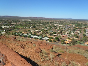 From Newman lookout overlooking the town.