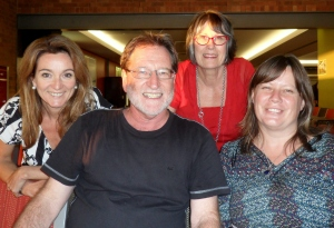 With from left Julie Fison, Krista Bell and Jude Rossel.