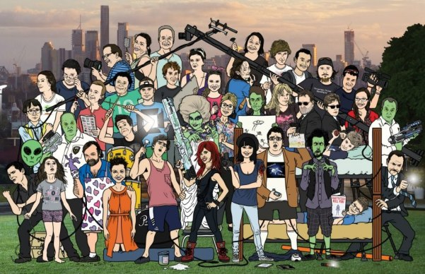 Cartoon of crew and cast-001