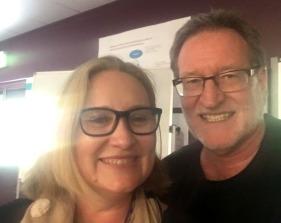 With Julie Gwynne-Jones
