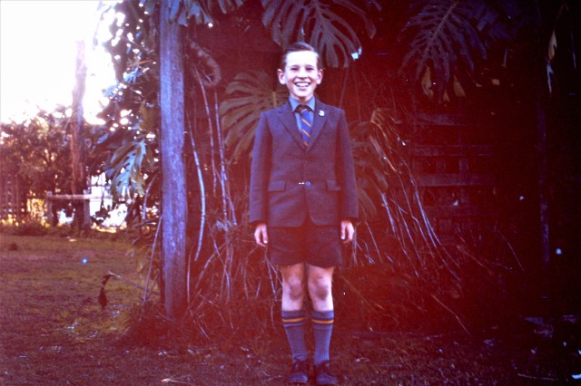 66 Mike School Uniform - Backyard